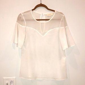 White shimmer top
